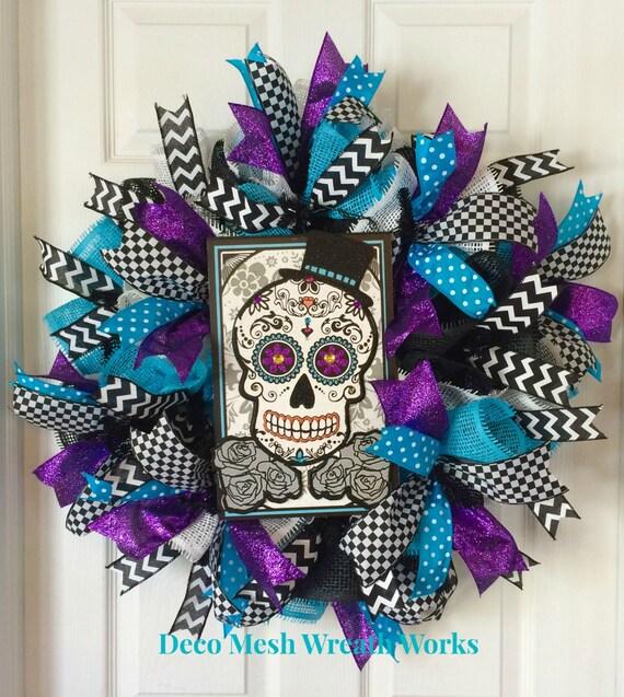 Day of the Dead Wreath Dia de los Muertos by ...
