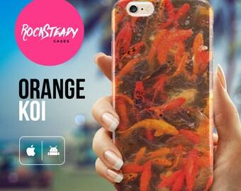 Orange koi fish iPhone 6s case, japanese iPhone 6s Plus case, SE, iPhone 6 Case, iPhone 5s Case, 5C case, Samsung galaxy s7, s6, s5 case,