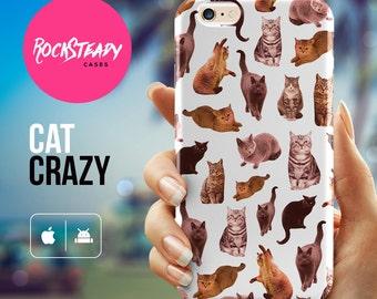 Cat iPhone 6s case, iPhone 7 Plus case, iPhone 6 Case, iPhone 5s Case, S7 case, apple iphone case, pattern samsung galaxy s5, S6 case, UK