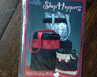Shop Hoppers. Flat Bottom Purse/Shopping Bag - Sewing PATTERN.