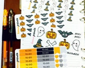 HALLOWEEN SET Stickers Perfect for Erin Condren Life Planner, Filofax, Plum Paper & other planner or scrapbooking