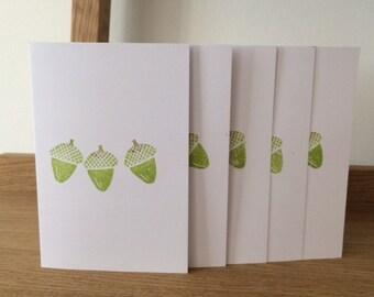 Acorn Greeting Card Set