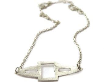Silvertone Spear Necklace