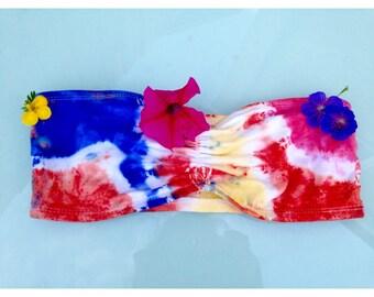 Tie Dye Ladies Bandeau UK size 8-10