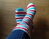 Where's Waldo Sock Yarn / Self-Striping / SW Merino + Nylon