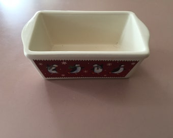 Vintage Nantucket Penguin Min Loaf Baking Dish