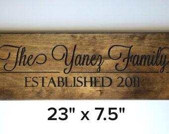 Rustic Family Sign; Family Established Sign; Business Sign; Rustic Business Name Sign