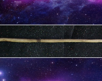 Straight Pagan / Wiccan Wand - 26 cm with Woodburnt Rings, Magic