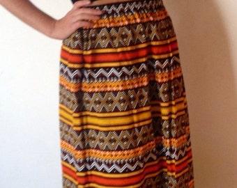 Batik Cotton Skirt from Thailand Ladies Size M