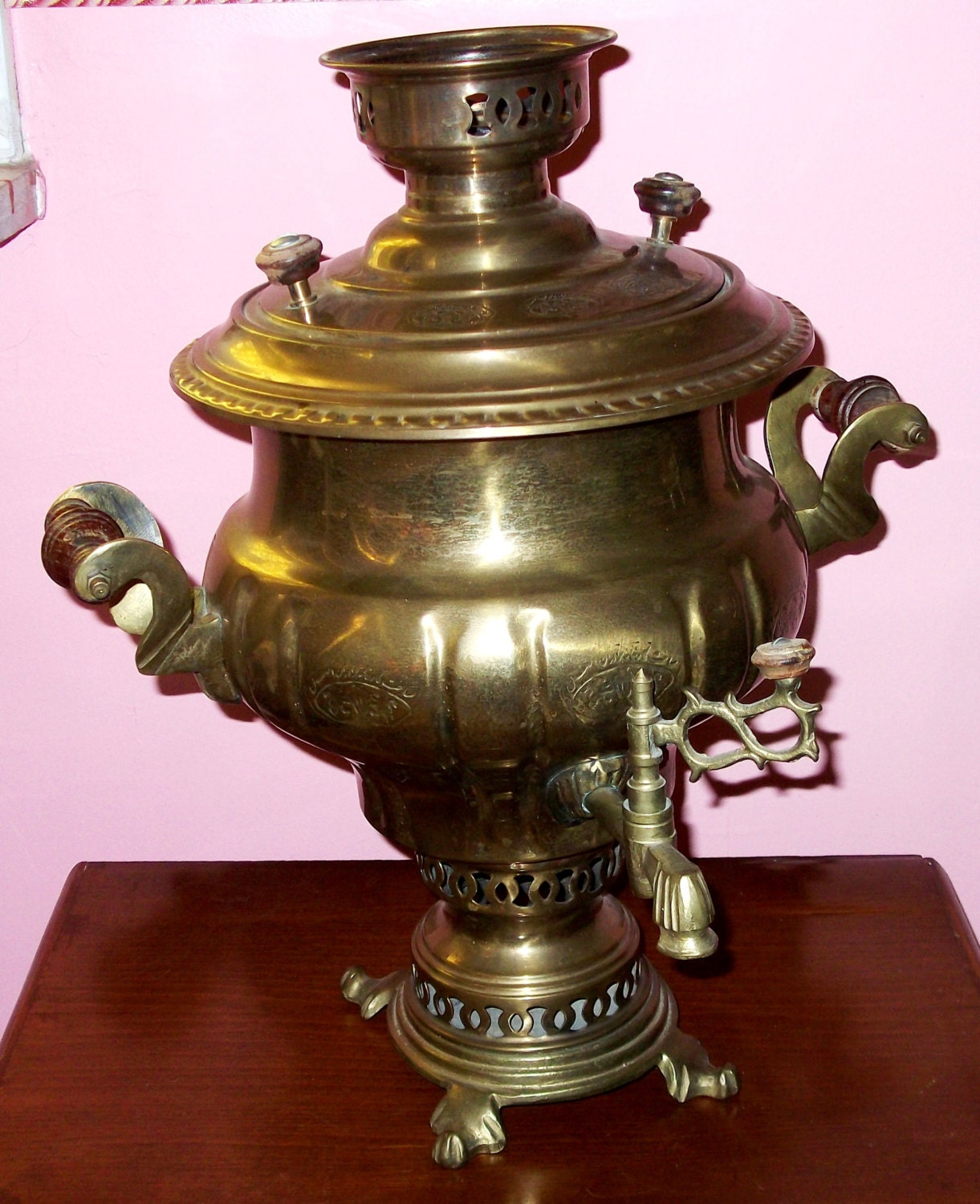Antique vintage brass persian samovar coffee tea by for A treasury of persian cuisine