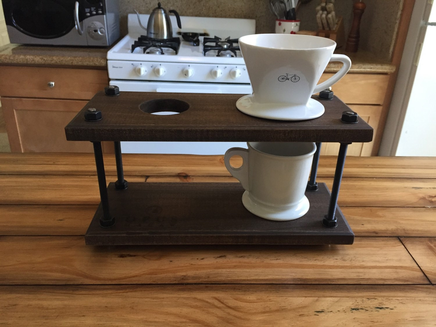 Pour Over Coffee Maker Stand : Pour Over Coffee Dripper Stand Industrial