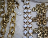 Jewelry Lot #1:  Gold and White collection