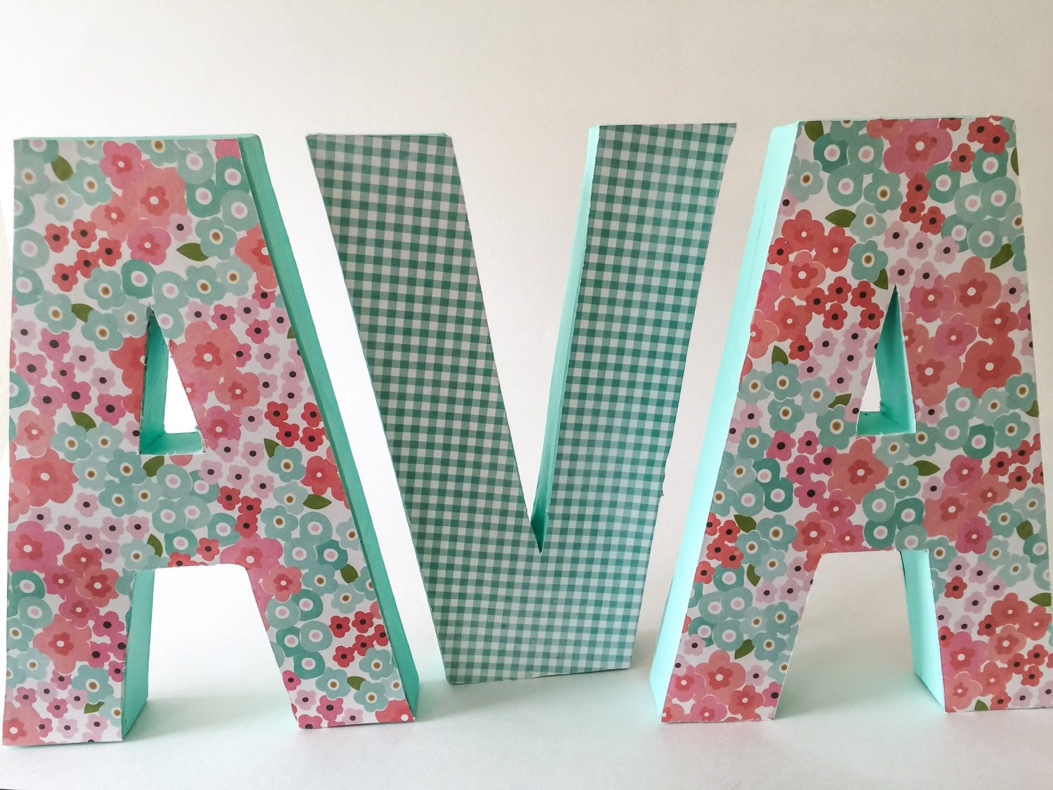 covering wooden letters with scrapbook paper Wooden letters and scrapbook paper by gmadiane on indulgycom.