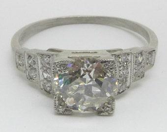 Platinum Art Deco Diamond Solitaire