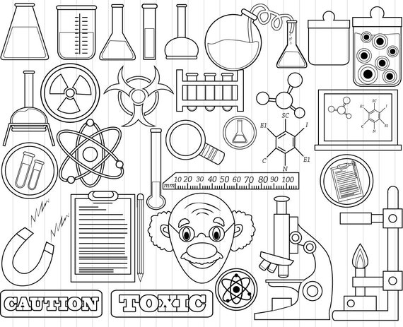 outline science clipart