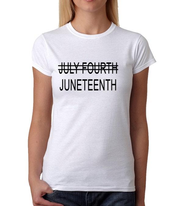 womens juneteenth shirt handmade printed freedom by