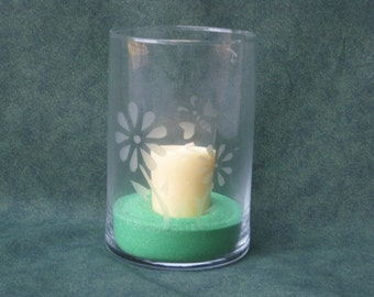 Etched Glass Candleware