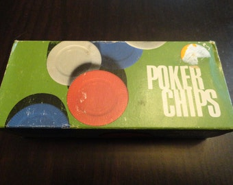100 Plastic Poker Chips By Tri-State Plastic Molding Company