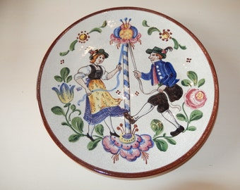 GERMANY PLATE with May Pole Dancers