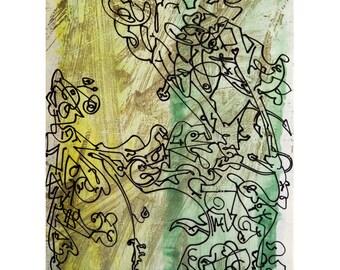 Tree of Life-3. Giclee Fine Art Print, Abstract  Art, Wall Art, Home Office Decor