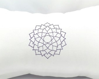 """Indoor/Outdoor Crown Chakra  Meditation Pillow Cover. Fits a 12""""x18"""" pillow insert"""