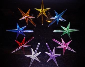 Classic & Modern Stars Medium  9 COLORS Ceramic Christmas Tree lights plastic decoration replacement twist pegs