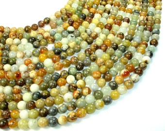 Jade Beads, Round, 8mm, 16 Inch, Full strand, Approx 49 beads, Hole 1 mm, A quality(287054020)