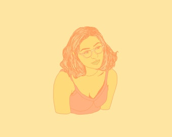 Custom Digital Color Block Portrait