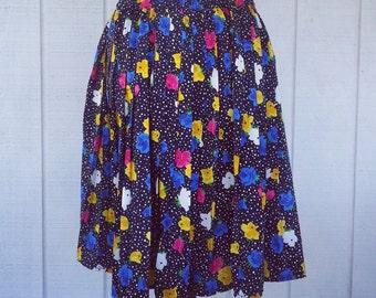 Vintage Clothing - Retro Skirt - Vintage Skirt - Summer Skirt - Pleated Skirt