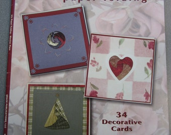 ELEGANT AND EASY, iris paper folding, designs for 34 decorative cards to make, 36 page booklet, Mailed from Canada