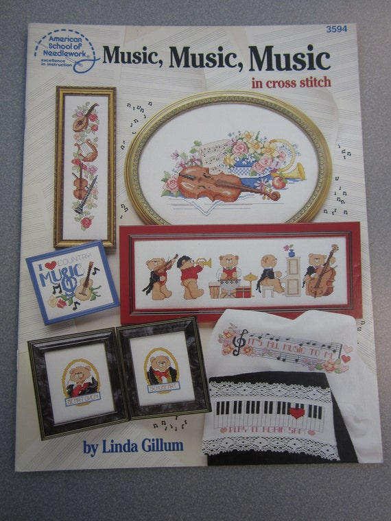 Music Music Music Counted Cross Stitch Charts Booklet