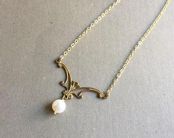 Sinuous Art Nouveau Pearl Necklace