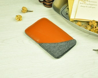 Slim iPhone 6s Leather Wallet Case,Slim iPhone 6s Plus Leather Sleeve,iPhone 6s Leather Case,iPhone 6s Plus Leather Cover,iPhone Sleeve-BN76