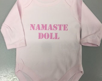 Namaste Doll Long Sleeve Baby Vest