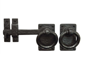 """7"""" Iron Gate Latch Ring Turn - Solid Cast Iron"""