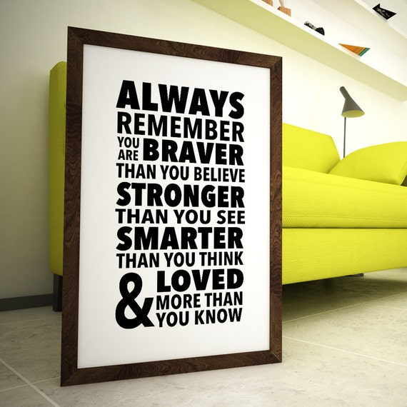 Always Remember You Are Loved: Always Remember You Are Braver Than You Believe, Stronger
