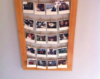 Clothesline picture frame