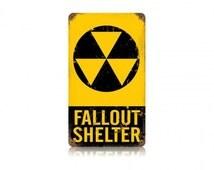 Fallout Shelter Vintage Metal Sign