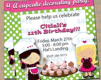 Cupcake Decorating Party Invitations 4
