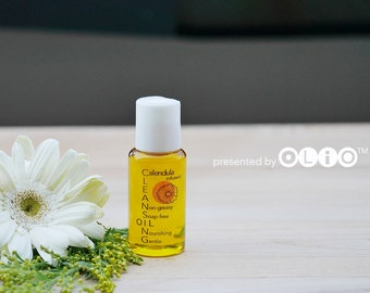 Travel Size Calendula infused Oil Cleanser, Herbal Facial Cleansing Oil, Natural Face Wash for Sensitive Skin, Plant Based Makeup Remover