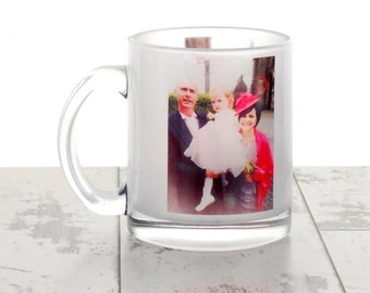 Personalised Frosted Glass Mug
