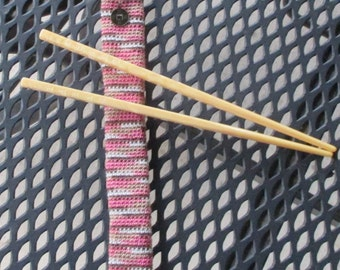 Chopstick Cozy, Crochet, Chopsticks Included