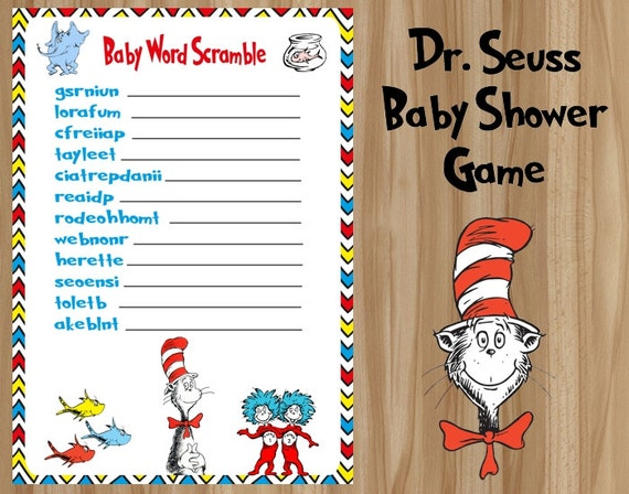 dr seuss baby shower game dr seuss shower game dr seuss baby shower