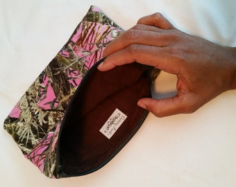 Handmade Pink Camouflage Clutch