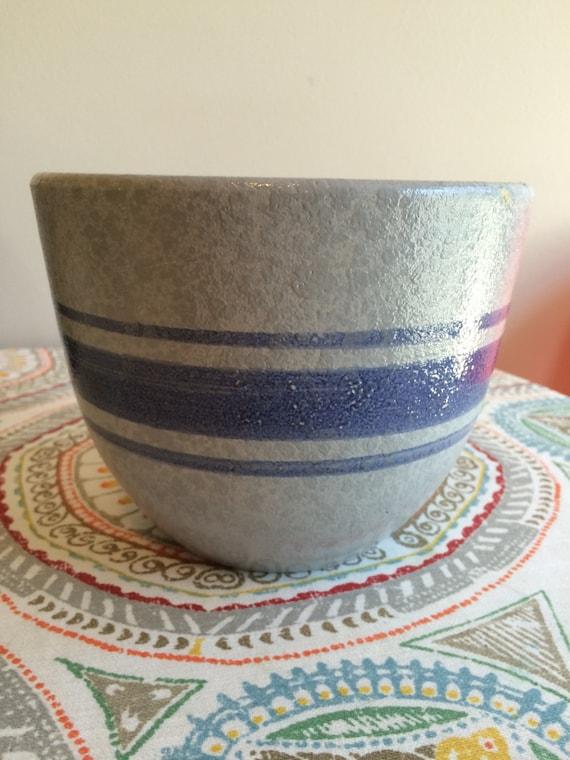 Vintage 1960 S Blue Gray With Blue Stripe Haeger
