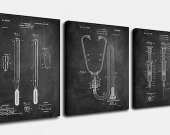 Doctors Set Canvas Art,Patent Print Poster,Patent Print Art,Home Decor,Patent Wall Art,Vintage Art,Vintage Patent Set [PPES0020-C]
