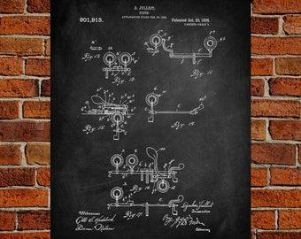 Flute Art Print,  Patent, Flute Vintage Art,  Blueprint,  Poster, PatentPrints, Wall Art, Decor [MU21-3A]