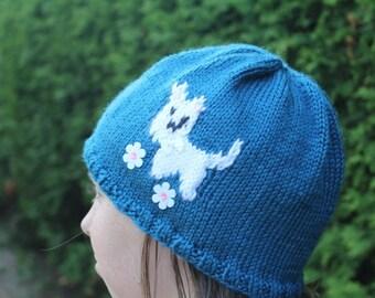 Westie Knit Hat