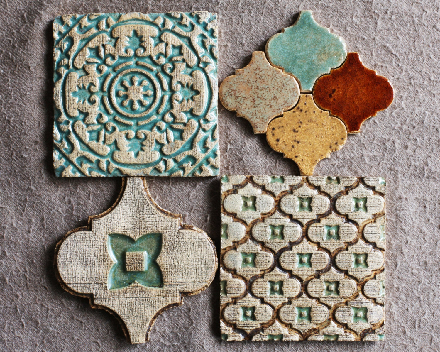 Moroccan ceramic tiles by herbariumceramics on etsy Moroccan ceramic floor tile