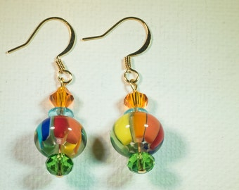 Colors of the Rainbow earrings-A192